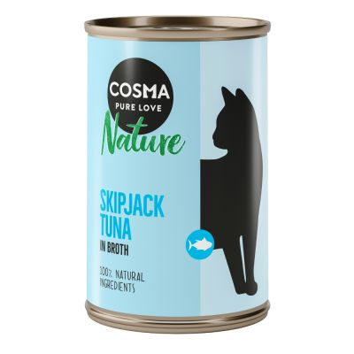 Lot Cosma Nature 24 x 140 g + Cosma Soup pour chat 4 x 40 g offerts