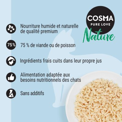 Lot Cosma Nature 24 x 70 g pour chat
