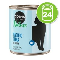 Lot Cosma Nature 24 x 280 g pour chat