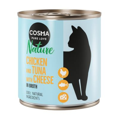 Lot Cosma Nature 12 x 280 g pour chat