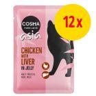 Lot Cosma Thai/Asia en gelée 12 x 100 g pour chat