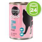 Lot Cosma Thai/Asia en gelée 24 x 400 g pour chat