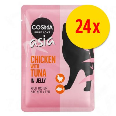 Lot Cosma Thai/Asia 24 x 100 g pour chat