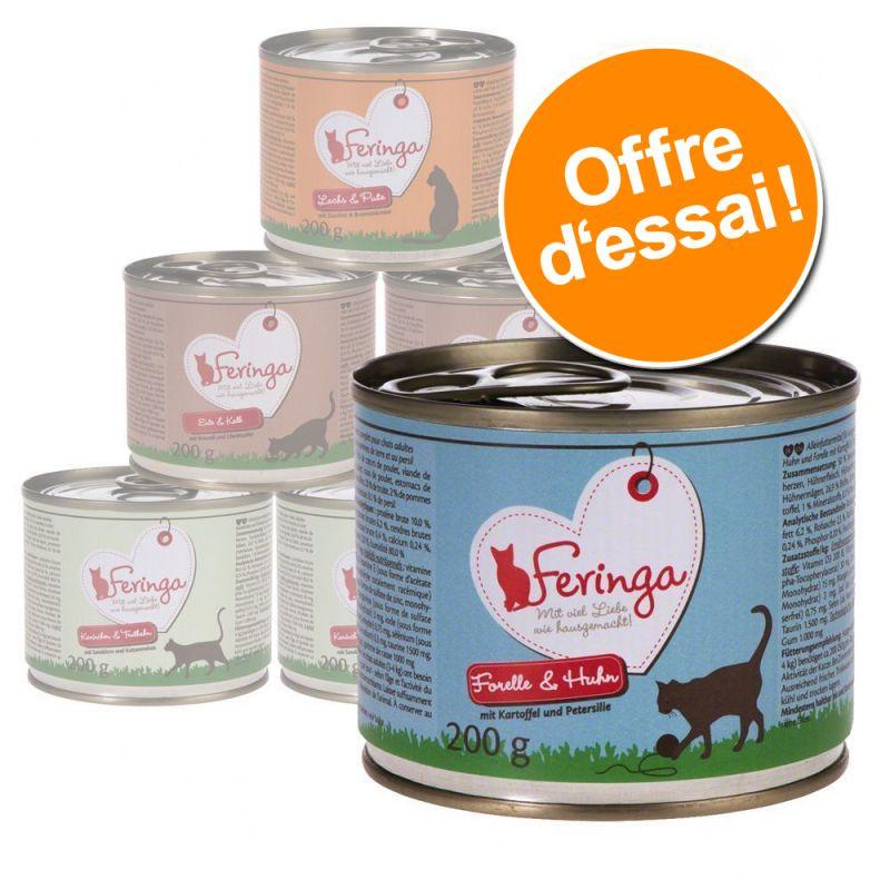 Lot découverte Feringa Classic Meat Menu pour chat (6 x 200, 400 et 800 g)