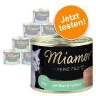 Lot découverte Miamor Filets Fins en gelée 12 x 185 g pour chat