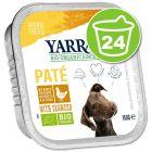Lot de barquettes Yarrah 24 x 150 g pour chien