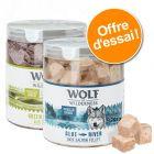 Lot de 2 boîtes de friandises lyophilisées Wolf of Wilderness pour chien