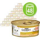 Lot de boîtes Gourmet Gold Les Mousselines 48 x 85 g