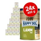 Lot de boîtes Happy Dog Pur 24 x 400g pour chien