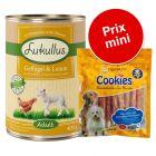 Lot de boîtes Lukullus 6 x 400 g + Cookie's 200 g pour chien