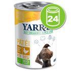 Lot de boîtes Yarrah Bio 24 x 380/400/405 g pour chien