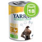 Lot de boîtes Yarrah Bio 18 x 380/400/405 g pour chien
