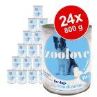 Lot de boîtes zoolove 24 x 800 g pour chien