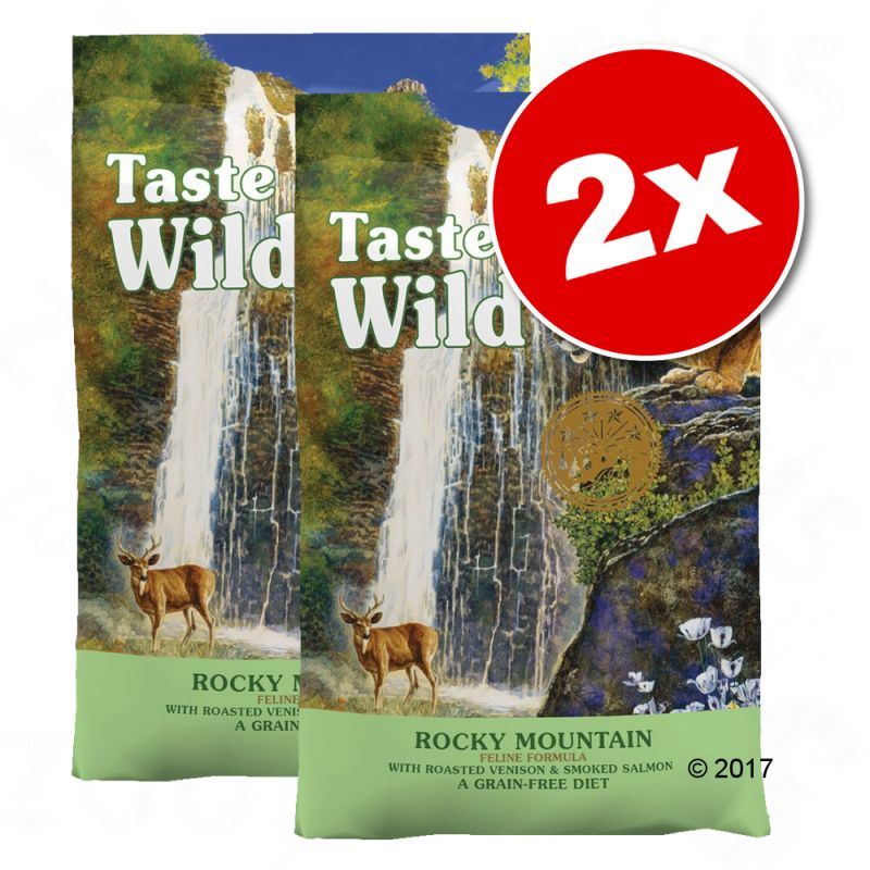 Lot de croquettes Taste of the Wild 2 x 6,6 kg pour chat
