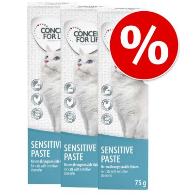 Lot de pâtes Concept for Life 3 x 75 g pour chat