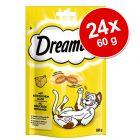 Lot Dreamies 24 x 60 g pour chat