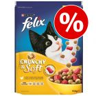 Lot Felix Crunchy & Soft 2 x 950 g pour chat
