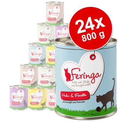 Lot Feringa Classic Meat Menu 24 x 800 g pour chat
