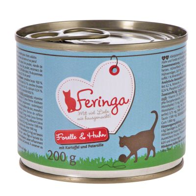Lot Feringa Classic Meat Menu 12 x 200 g pour chat