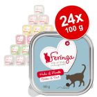Lot Feringa Classic Meat Menu 24 x 100 g pour chat