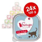 Lot Feringa Classic Meat Menu 24 x 100 g pour chat