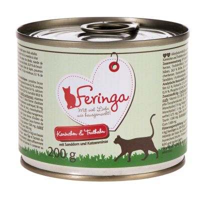 Lot Feringa Classic Meat Menu 18 x 200 g pour chat