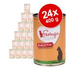 Lot Feringa Menus Duo 24 x 400 g pour chat