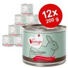 Lot Feringa Menus à la viande 12 x 200 g pour chat