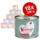 Lot Feringa Menus à la viande 18 x 200 g pour chat