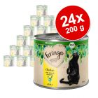 Lot Feringa Organic bio Adult 24 x 200 g pour chat