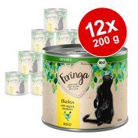 Lot Feringa Organic bio Adult 12 x 200 g pour chat