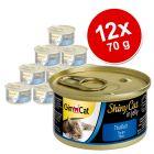 Lot GimCat ShinyCat en gelée 12 x 70 g pour chat