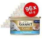 Lot Gourmet Gold Les Mousselines 96 x 85 g pour chat