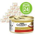 Lot Gourmet Gold Recettes raffinées 24 x 85 g pour chat