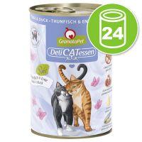 Lot GranataPet DeliCatessen 24 x 400 g pour chat