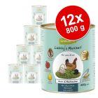 Lot GranataPet Liebling's Mahlzeit 12 x 800 g pour chien