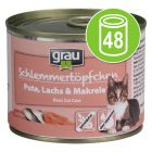 Lot Grau Menu gourmand 48 x 200 g pour chat