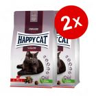 Lot Happy Cat pour chat 2 x 10 kg, 2 x 4 kg et 2 x 1,3 kg