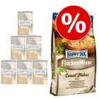 Lot Happy Dog FlockenMixer Flocons 10 kg + 6 x 400 g Happy Dog Pur pour chien