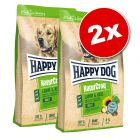 Lot Happy Dog Natur 2 x 10/15 kg pour chien