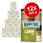 Lot Happy Dog Pur 12 x 400 g pour chien