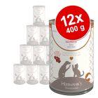 Lot Herrmann's Pur Sensitive 12 x 400 g / 800 g pour chien et chat