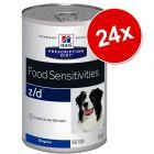 Lot Hill's Prescription Diet Canine 24 x 350/360/370 g pour chien
