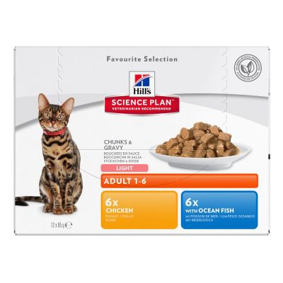 Lot Hill's Science Plan 12 x 85 g pour chat