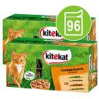 Lot Kitekat 96 x 100 g pour chat