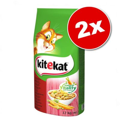 Lot Kitekat 2 x 12 g pour chat