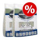 Lot : Litière Greenwoods en argile naturelle et zéolite pour chat