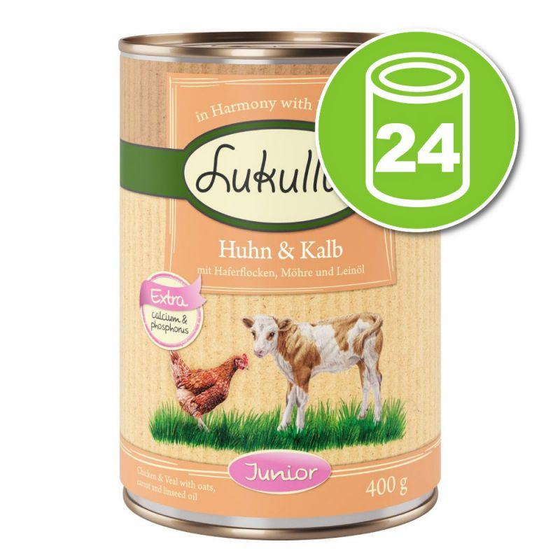 Lot Lukullus Junior 24 x 400 g pour chien