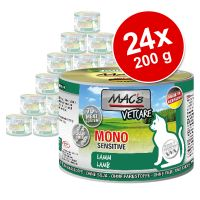Lot MAC's Mono Sensitive 24 x 200 g pour chat