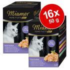 Lot Miamor Filets Fins Mini sachets fraîcheur 16 x 50 g pour chat
